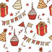 День рождения бесшовный фон — Cтоковый вектор