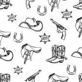 Wild West western pattern — Stock Vector
