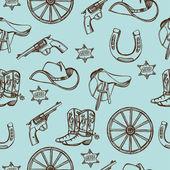 Wild West western pattern — Wektor stockowy