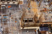 The steel structure building big picture view. — Stock Photo