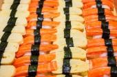 Including sushi, Japanese food palatable. — Stock Photo