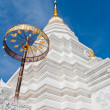 Silver Sanctuary, Gable apex in temple roof , Chiangmai Province — Stock Photo #64918335