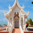 Silver Sanctuary, Gable apex in temple roof , Chiangmai Province — Stock Photo #64918357
