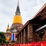 Big Image of buddha in ayutthaya ancient city, thailand — Stock Photo #64918479