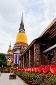 Big Image of buddha in ayutthaya ancient city, thailand — Stock Photo