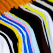 T-shirts with different colors and see which stitch and seam.  — Stock Photo #64927731