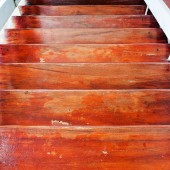 Wood stair. — Stock Photo