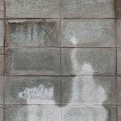 Gray and white cinder block wall background — Stock Photo