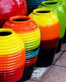 Colored jars. — Stock Photo