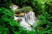 Fourth floor of Huay Mae Kamin Waterfall, Khuean Srinagarindra N — Stock Photo