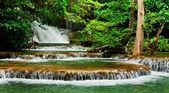 Huay Mae Kamin waterfall asia thailand — Stock Photo