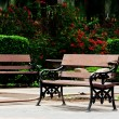 Old bench in the garden — Stock Photo #64958273