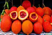 Gac fruit, Baby Jackfruit, Spiny Bitter Gourd, Sweet Grourd or C — Stock Photo