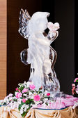 Ice Sculpture at Wedding — Stock Photo
