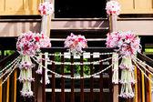 Hochzeitsstrauß im Garten — Stockfoto