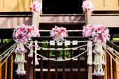 Wedding bouquet in garden — Stock Photo