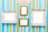 The isolated image of the colorful wooden picture frame — Stock Photo