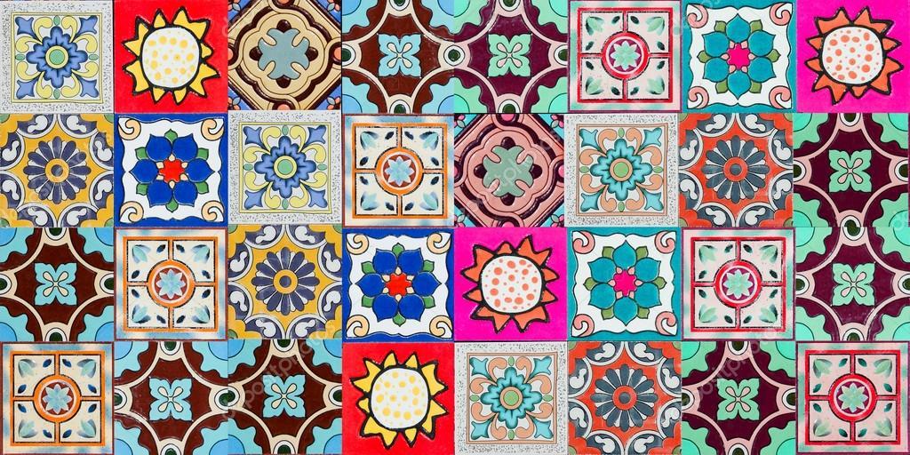 Colorful ceramic tile