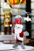 Santa Claus with a big stack of Christmas Gifts — Stockfoto