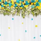 Fondo de flores hermosas para la escena de la boda — Foto de Stock
