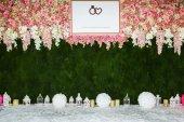 Beautiful flowers background for wedding scene — Stock Photo