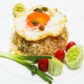 Fried rice with crab — Stock Photo