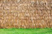 Wall of Thai farmer cottage in countryside. — Stock Photo