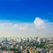 Bangkok Metropolis, aerial view over the biggest city in Thailan — Stock Photo #66204673