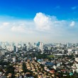 Bangkok Metropolis, aerial view over the biggest city in Thailan — Stock Photo #66204709