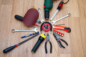 Assorted working tools for locksmith work — Photo