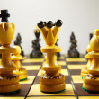 Two rows of chess pieces — Stock Photo #69474745