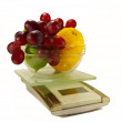 Kitchen Scales with fresh fruits — Stock Photo #71895727
