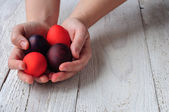 Colored easter eggs — Stock Photo