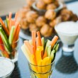 Nice looking and tasty vegetables on wedding reception — Stock Photo #71389965