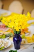 Wedding decor flowers — Stock Photo