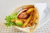 Chicken wrap sandwich — Stock Photo