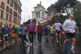 Participants in the small Rome Marathon. — Stock Photo