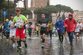 Athletes at the Rome Marathon. — Stok fotoğraf