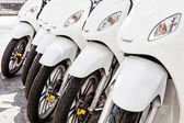 Rij van scooter — Stockfoto