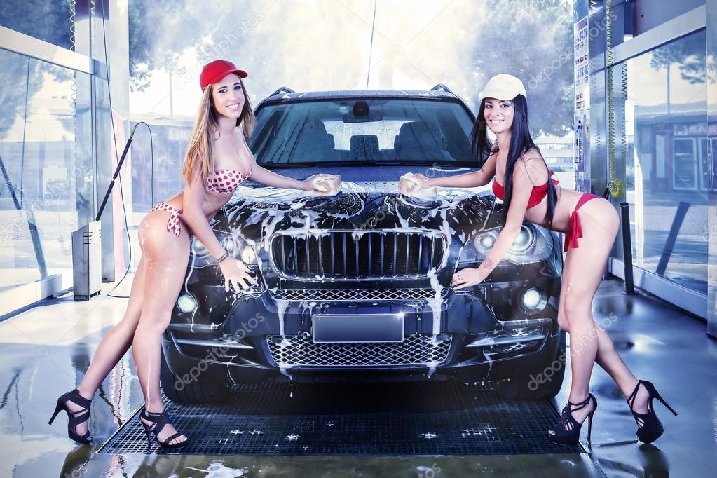 sexy girls washing cars № 439699