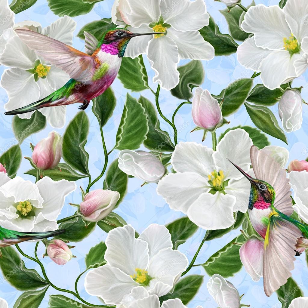 floral hintergrund muster seamless fr hling bl te wei e bl ten zweig der wei e apfel bl ten. Black Bedroom Furniture Sets. Home Design Ideas