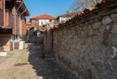 Old Town Nessebar Fast Food Street — 图库照片