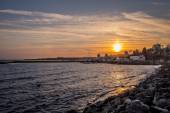 Sunset in Nessebar New Town — 图库照片