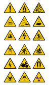 Warning Safety signs — Stock Vector
