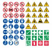 All safety signs vector — Stock Vector