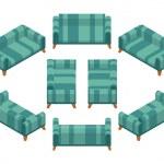 Isometric sofa — Stock Vector #66092689