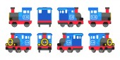 Light blue toy locomotive — Vector de stock