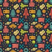 Sci-fi retro pattern — Stock Vector