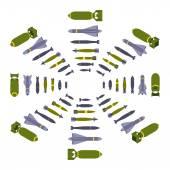 Isometric air bombs — Stock Vector