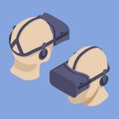 Isometric virtual reality headset — Stock Vector